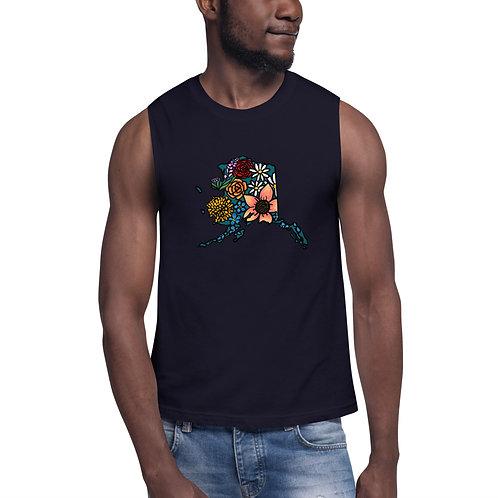 Unisex Muscle Shirt - Flowered Alaska