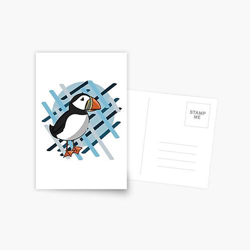 Postcard - AK Puffin