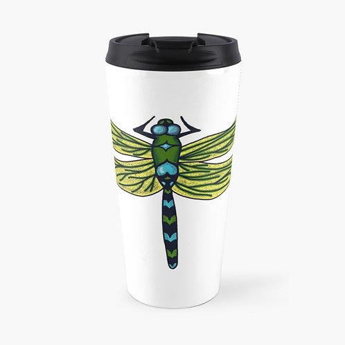 Travel Mug - Dotted Dragon Fly