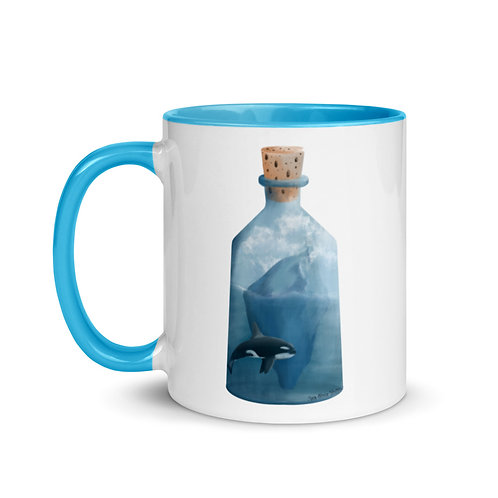 Mug with Color Inside - Bottled Glacier
