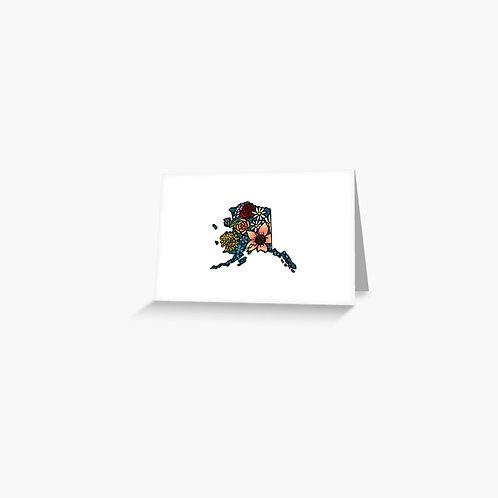 Greeting Card - Flowered Alaska