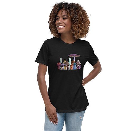Women's Relaxed T-Shirt - Mushrooms