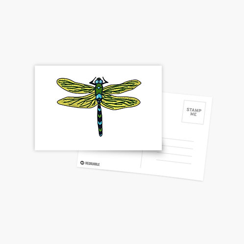 Postcard - Dotted Dragon Fly