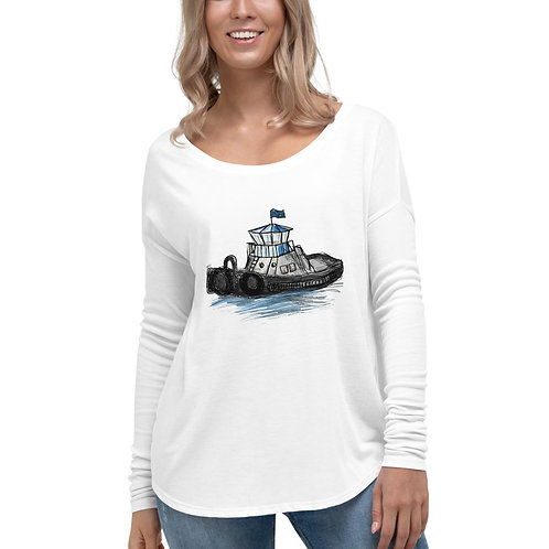 Women's Long Sleeve Tee - Tug Boat