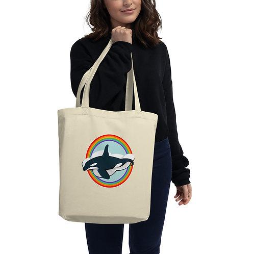 Eco Tote Bag - Rainbow Orca