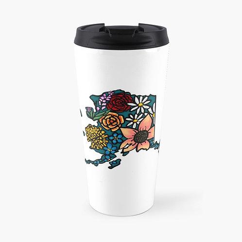 Travel Mug - Flowered Alaska