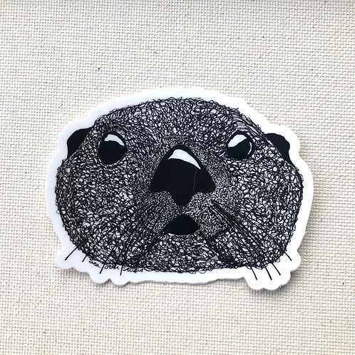 Sticker - Squiggly Otter