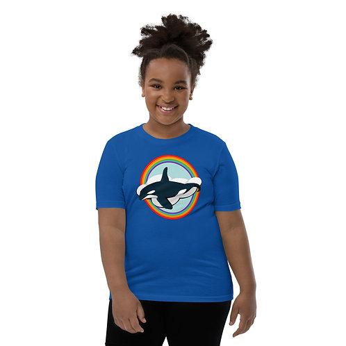 Youth Short Sleeve T-Shirt - Rainbow Orca