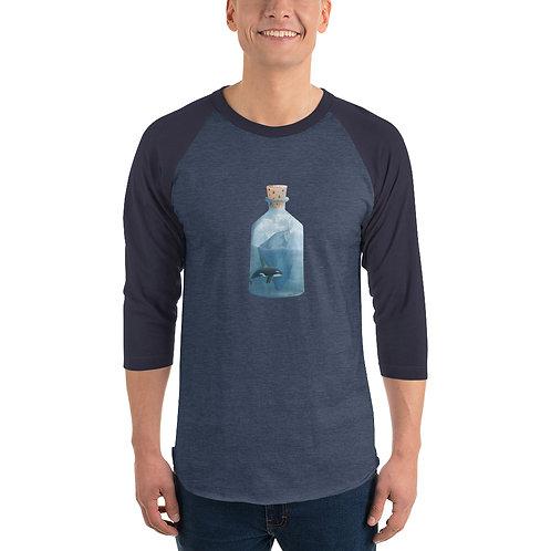 Unisex 3/4 Sleeve Baseball T-Shirt - Bottled Glacier