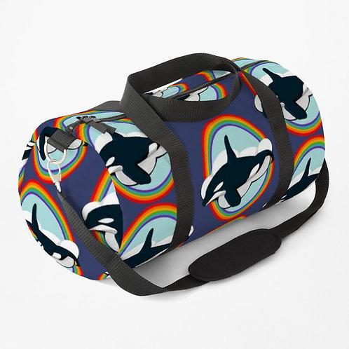 Duffle Bag - Rainbow Orca