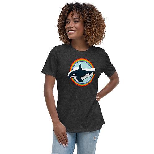 Women's Relaxed T-Shirt - Rainbow Orca