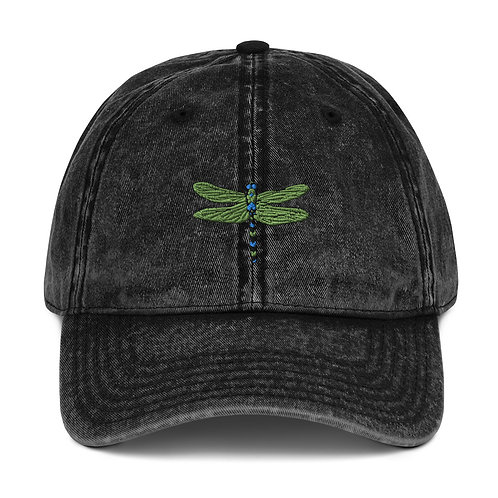 Vintage Cotton Twill Cap - Dotted Dragonfly