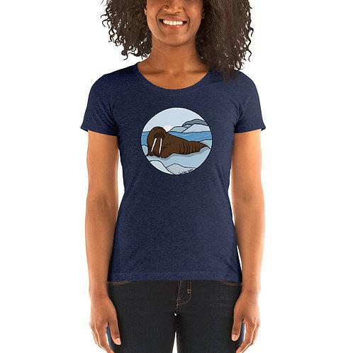 Women's Tri-Blend Short Sleeve T-Shirt - Walrus
