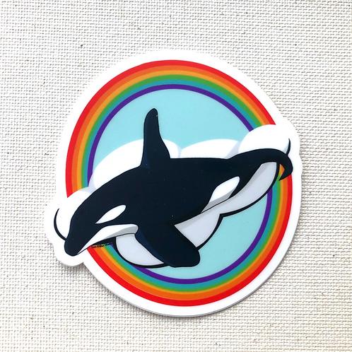 Sticker - Rainbow Orca