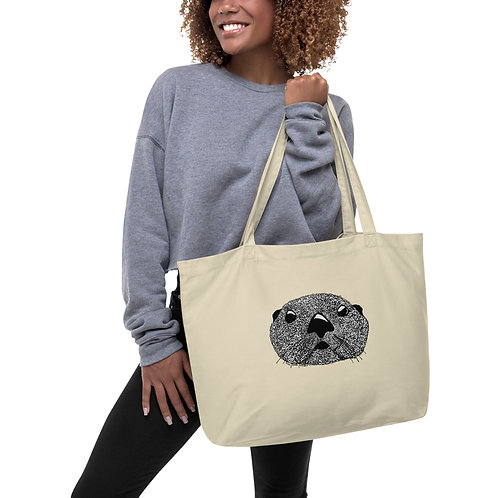 Large Tote Bag - Squiggly Otter