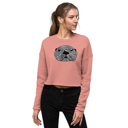Crop Sweatshirt - Squiggly Otter