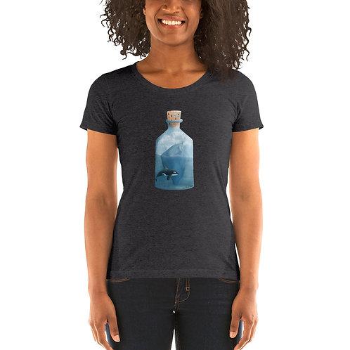 Women's Tri-Blend Short Sleeve T-Shirt - Bottled Glacier