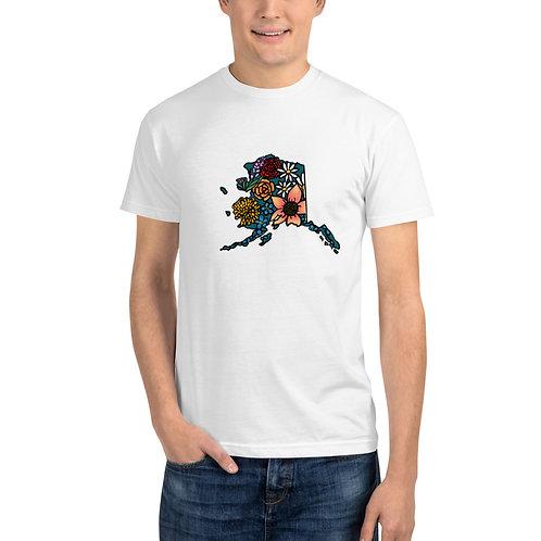Unisex Sustainable T-Shirt - Flowered Alaska
