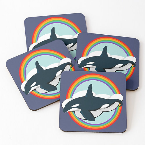 Coasters - Rainbow Orca