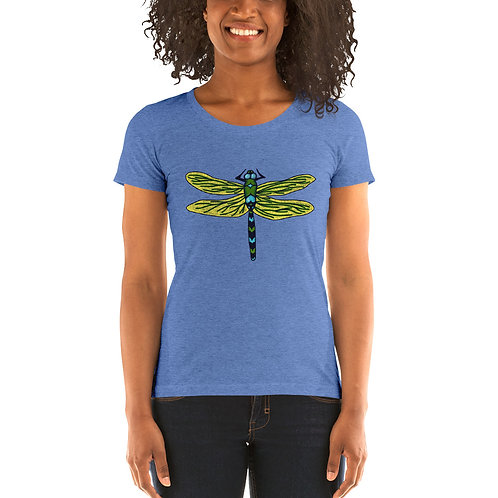 Women's Tri-Blend Short Sleeve T-Shirt - Dotted Dragonfly