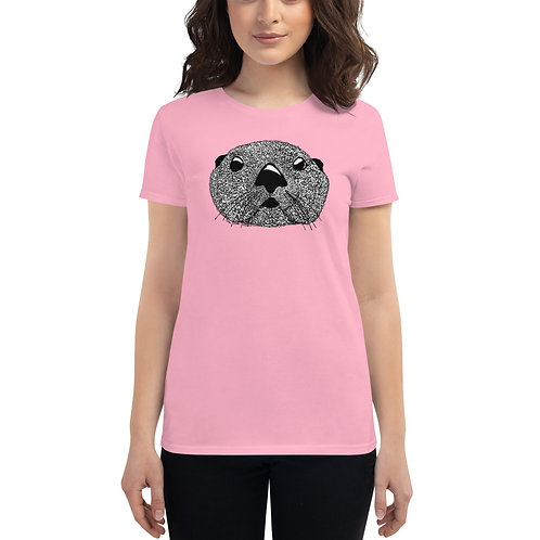 Women's Short Sleeve T-Shirt - Squiggly Otter