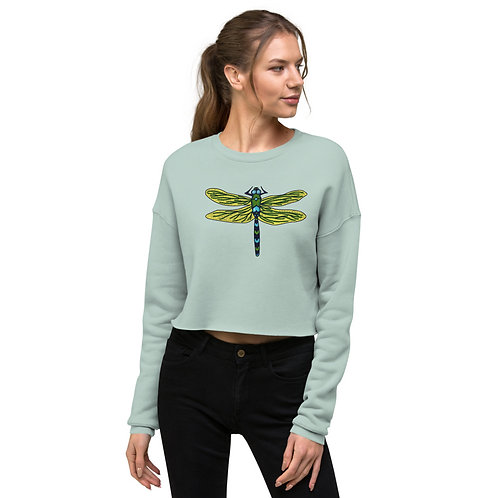 Crop Sweatshirt - Dotted Dragonfly