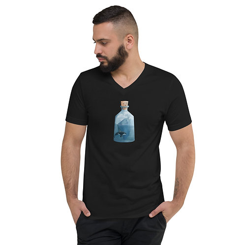 Unisex Short Sleeve V-Neck T-Shirt - Bottled Glacier