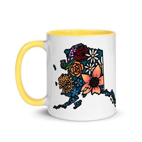 Mug with Color Inside - Flowered Alaska