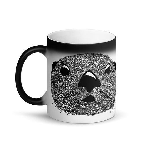 Matte Black Magic Mug - Squiggly Otter