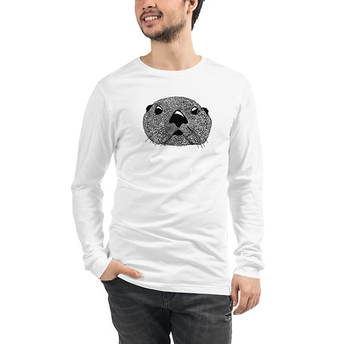 Unisex Long Sleeve Tee - Squiggly Otter