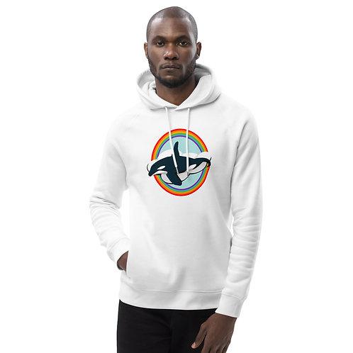 Unisex Eco Hoodie - Rainbow Orca