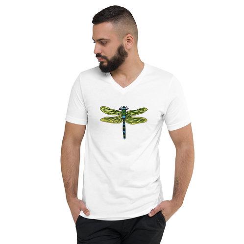 Unisex Short Sleeve V-Neck T-Shirt - Dotted Dragonfly