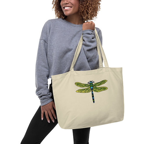 Large Tote Bag - Dotted Dragonfly