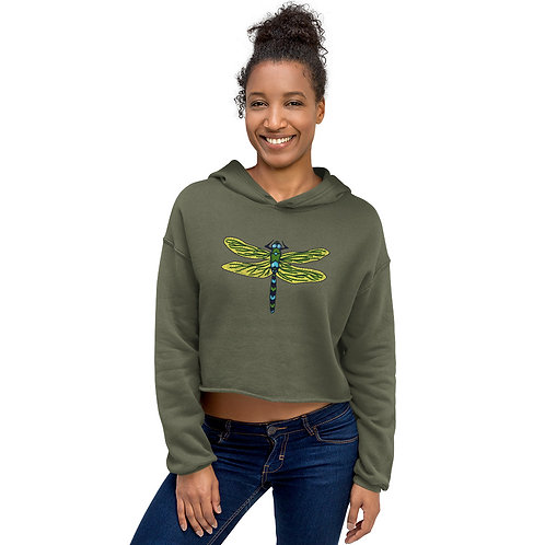 Crop Hoodie - Dotted Dragonfly