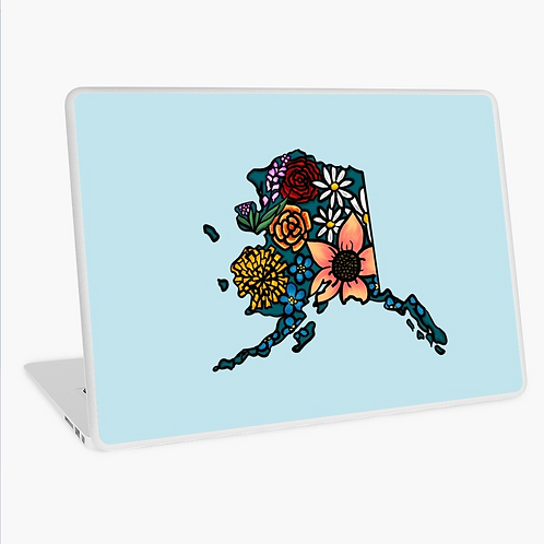 Laptop Skin - Flowered Alaska