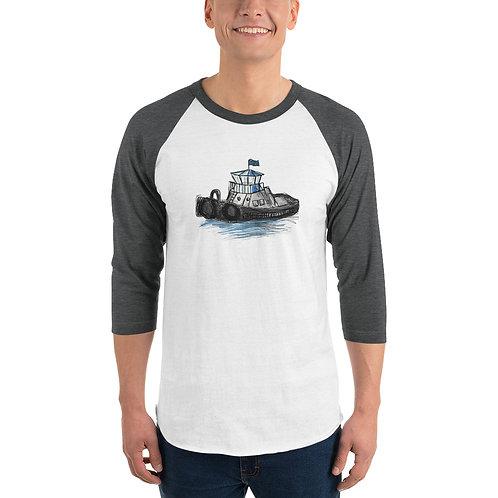 Unisex 3/4 Sleeve Baseball T-Shirt - Tug Boat