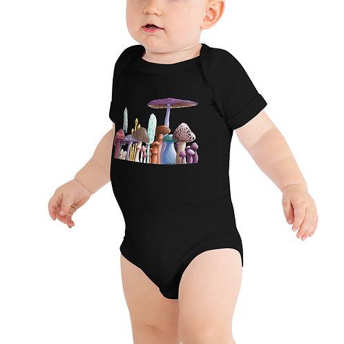 Baby Short Sleeve One Piece - Mushrooms