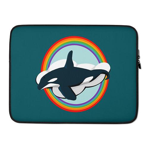 Laptop Sleeve - Rainbow Orca