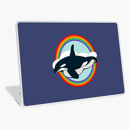 Laptop Skin - Rainbow Orca