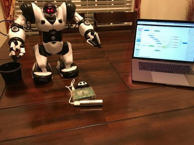 Control the Humanoid Robot with voice commands using IBM Watson Speech to Text service