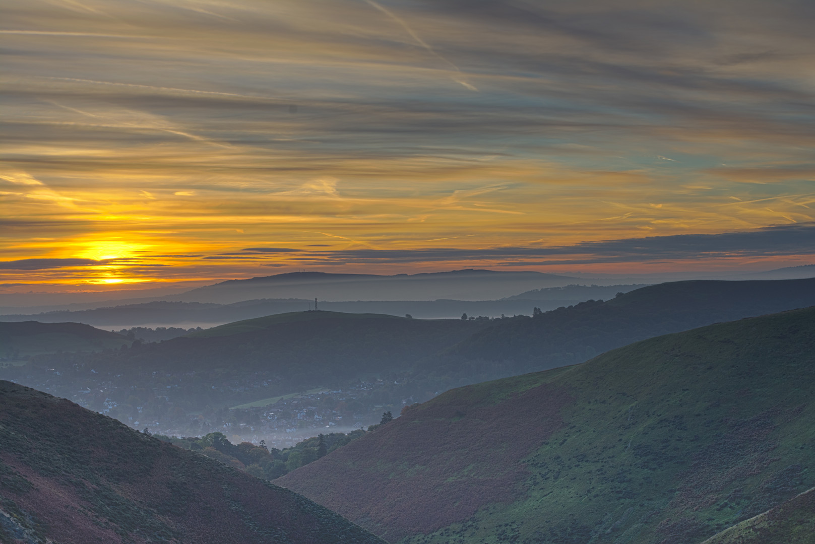 Sunrise over Church Stretton