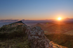 sunrise from Caer Caradoc