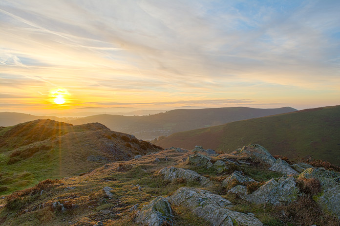 Sunrise from the Long Mynd