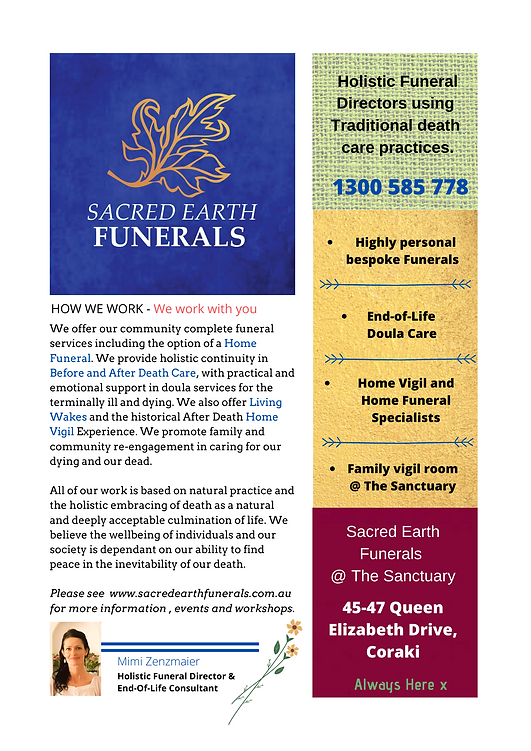 Holistic Funeral Directors and tradition