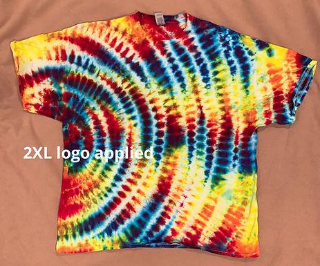 2XL logo tie dye