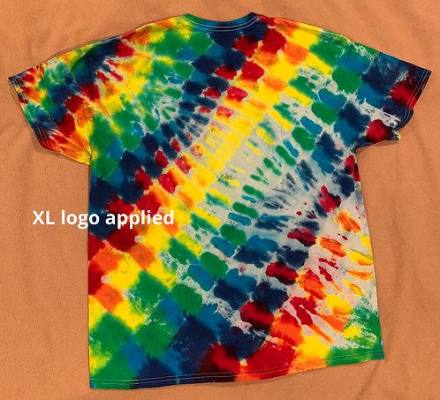XL logo tie dye
