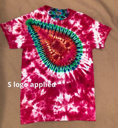 Small logo tie dye