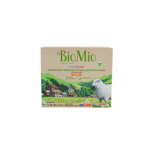 Bio Mio Экологичный стиральный порошок для цветного белья с экстрактом хлопка