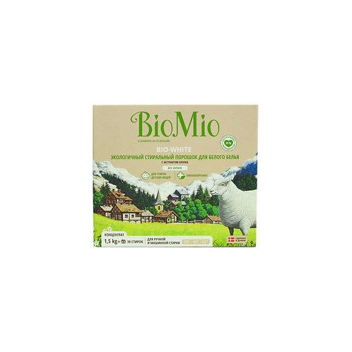 Bio Mio Экологичный стиральный порошок для белого белья с экстрактом хлопка