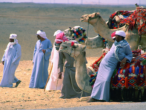 Bedouin Tribesmen at Great Pyramids